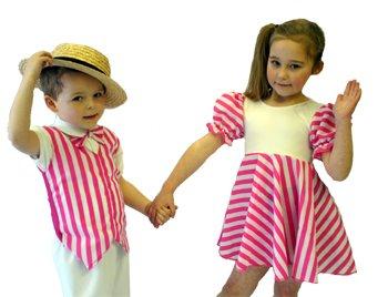 CL COSTUMES Tanz-Bühnenkleidung-Show-Musical-Solo-Stepptanz-Kostüm Kleid Candy Mädchen- Jedes Alter/Größen - Wie abgebildet, Ladies: 12
