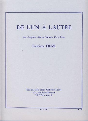 Graciane Finzi: de l'un a l'Autre (Clarinet & Piano)