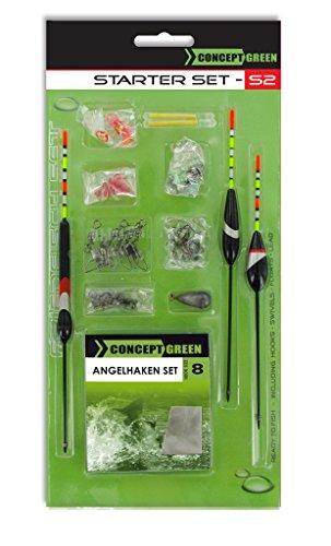 Jenzi Friedfisch Set Green Concept, Komplettmontage-Set zum Angeln