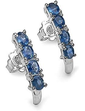 Silvancé - Damen Ohrringe - 925 Silber, rhodiniert - echte Edelsteine zur Auswahl