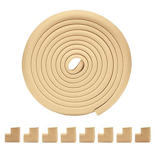 Aikowener Baby Eckenschutz und Kantenschutz Set mit 5m Kantenschutz und 8 Stück Eckenschutz, Baby-Sicherheits-Tabellen-Schreibtisch-Edge-Corner Ladekantenschutz Anti-Kollisions-Stoßstange Streifen - Edge Kindersicher