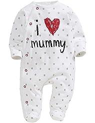 Bebé para ChenStarUK para hacer vestidos de diseño de corazones y de un padre y de la momia palo de golf para niños chica de espaldas en ropa del Pelele se hemiplejía Pelele para bebé