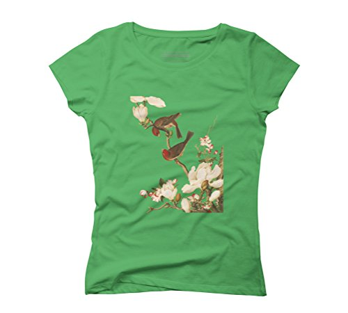 Two Lovebirds Women's Graphic T-Shirt - Design By Humans Green
