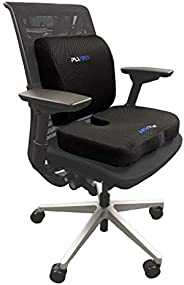 Plush Advanced Orthopedic Coccyx Support Seat Cushion & Lumbar Back Support Pillow for Office Chair. Premi