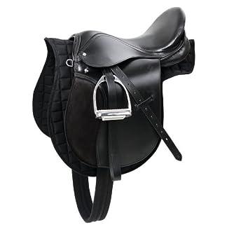 Kerbl 32285 Haflinger Saddle Set - Black 15