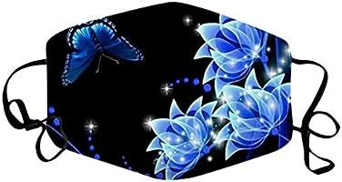 Blingko Women Men Multifunctional Half Face Bandana Reusable 3D Print Breathable Dust Protective Face Covering,...