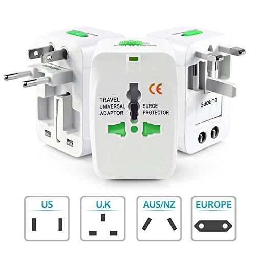 ACECOREE- Reiseadapter US/UK/EU/AU Stecker PC drehbarer weltweiter Reise Adapter für Handy