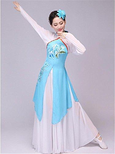 anz chinesische Kleidung / Frau klassischen Tanz Bühnenbild Kostüm Anzug , s , blue (Chinesischen Nationalen Kostüm Für Mädchen)