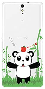 URBAN KOLOURS Original Designer Printed Clear Case Back Cover for Sony Xperia C5 Ultra (Panda Shooter-Clear)