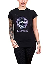 Evanescence T Shirt Band Logo Official Womens Skinny Fit Black