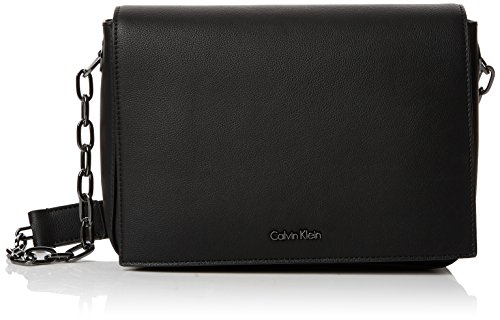Calvin Klein Night Out Medium Shoulder Bag, Sacs bandoulière femme, Noir (Black), 6x18x24 cm (B x H T)