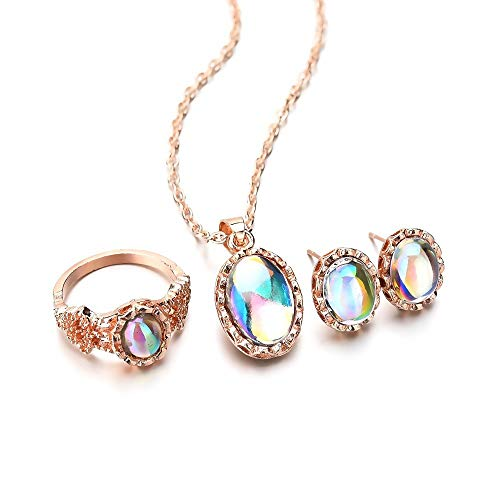 Jewelry CCF Halskette Anzug schmuck Opal Ring Geometrie pop schmuck weiblich