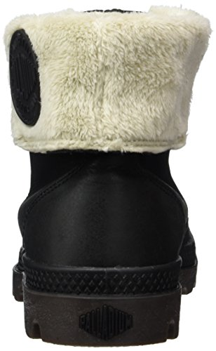 Palladium Baggy Leather Fs, Bottes Combat de hauteur moyenne, non doublées femme Schwarz (072)