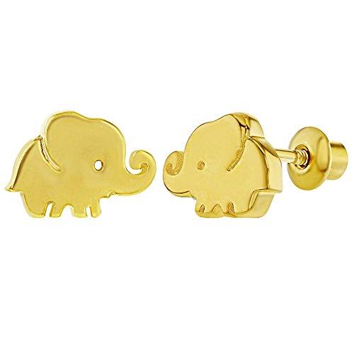 Diminutos pendientes para niñas recién nacidas, chapados en oro de 18 quilates,...