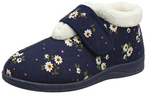 Dunlop Deloris - Pantofole Donna Blu (Navy Floral)
