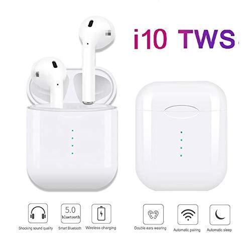 393a588fca5 i10 TWS. Auriculares Bluetooth Inalámbricos con Bluetooth 5.0 con micrófono  Integrado + Caja de Carga