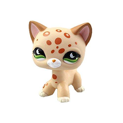 Pet Shop Spielzeug LPS Seltene Stehende Katze Maske Gelb Kurze Haare Kätzchen Tierfiguren Sammlung Kinder Kind für Geschenk 1 stück Creme Tan Braunes Herz Gesicht (Plum blossom)