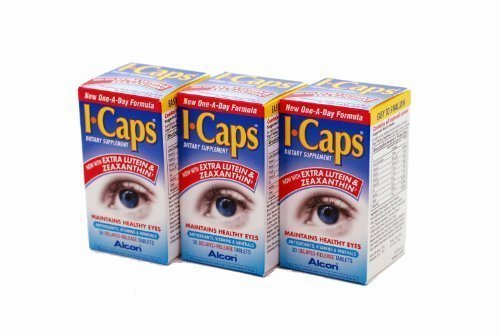 I-Caps With Lutein and Zeaxanthin Dietary Supplement for Healthy Eyes 90 Capsules (Factory Sealed Pack 3 x 30) New One-A-Day Formula Test