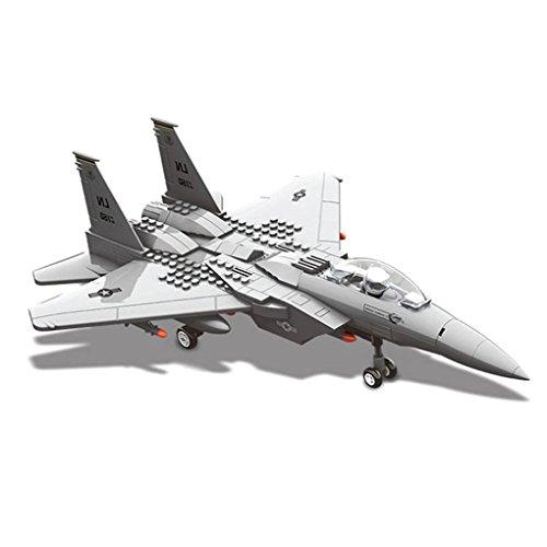 WANGE Modell F15 Eagle Fighter. Modell eines Taktisches Doppelmotor Kampfflugzeug zum Bauen mit Bausteinen. Luftfahrtmodell 1:48