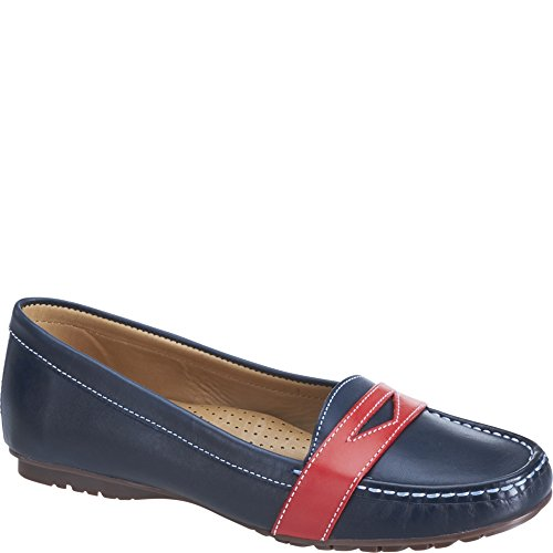 Sebago Damen Meriden Penny Slipper Navy/Red Leather