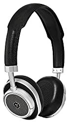 Master & Dynamic MW50 kabelloser On-Ear Kopfhörer (Echtleder-Kopfband, Bluetooth 4.1, 16h Akku) Schwarz/Silber