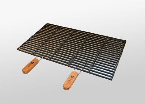 Gusseisen-Grillrost 60 x 40 cm mit abnehmbaren Handgriffen