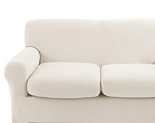 Copridivano bassetti mania per divani 3 posti fino a 210 cm di larghezza (beige)