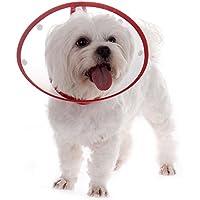 TJW Cono para Mascotas, E-Collar Protectora Cuello,Collarín para Perros,Collar Compatible con Mascotas,Color Azar (M: Neck Circumference 25-29cm)