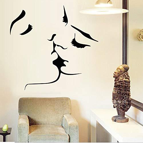 Preisvergleich Produktbild Zfkdsd Bestseller Kuss Wandaufkleber Wohnkultur 8468 Hochzeitsdekoration Wandkunst Für Schlafzimmer Aufkleber Wandbild