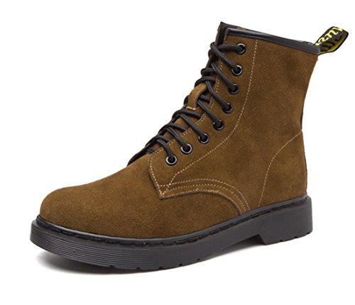 Honeystore Unisex-Erwachsene Bootsschuhe Derby Schnürhalbschuhe Kurzschaft Stiefel Winter Boots für Herren Damen Braun (Derby Hat Grüne Kind)