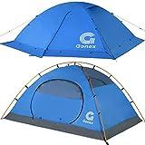 Gonex Zelt 2 Personen Winter Kuppelzelt Winddicht wasserdicht für Camping Wandern Rucksacktouren Bergsteigen Outdoor - Blau