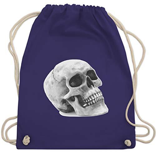 Piraten & Totenkopf - Totenkopf Skull - Unisize - Lila - WM110 - Turnbeutel & Gym Bag