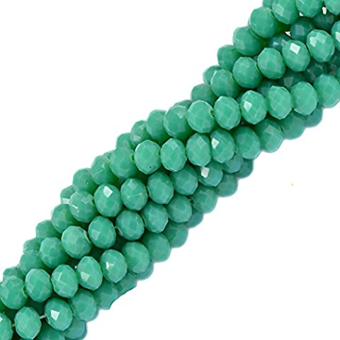 16.5'' Faceted Crystal Glass Gemstone Beads Strand Jewelry Making Craft 4mmx6mm #1