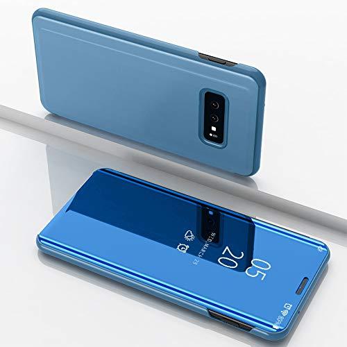 BCIT Samsung Galaxy S10 Plus Hülle - PU Premium Lederhülle Hülle mit Standfunktion Flip Case Schale Etui für Samsung Galaxy S10 Plus - Himmel-blau -