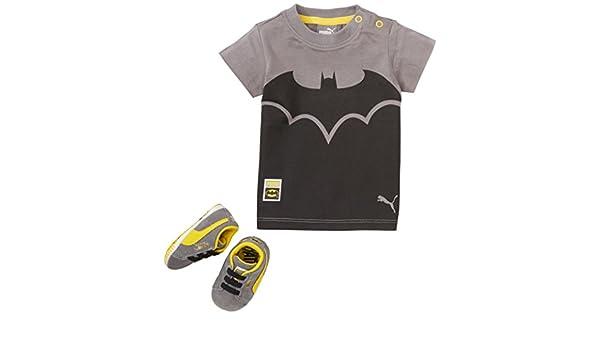 Puma Unisex Baby Crib Pack Batman Krabbel & Hausschuhe Grau