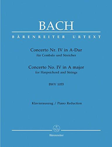 Cto IV A-Dur Bwv1055 Cemb, Str - Pianos(2)