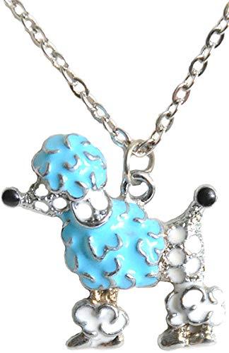 Unbekannt Cute Fifties Poodle Pudel Retro Halskette (Hellblau)