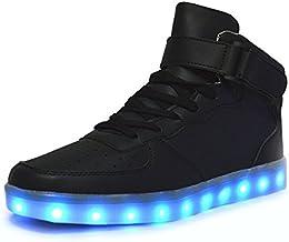 Aidonger Unisex Erwachsene High-Top LED Schuhe Sneaker Sportschuhe USB Lade  Outdoor Leichtathletik beiläufige Paare