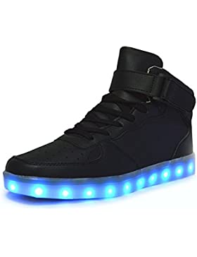 Aidonger Unisex Erwachsene High-Top LED Schuhe Sneaker Sportschuhe USB Lade Outdoor Leichtathletik beiläufige...