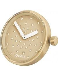 Fullspot O clock OCF45 - Reloj analógico de cuarzo unisex, correa de silicona multicolor (agujas luminiscentes)