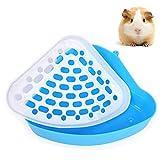 Bebester Pet Toilet, Pet Litter Tray Corner Potty Training For Small Animal Hamster Chinchilla Guinea Pig Bunny Ferret