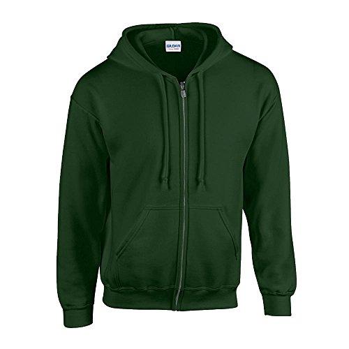 Gildan - Kapuzen Sweat-Jacke \'Heavyweight Full Zip\' XXL,Forest Green