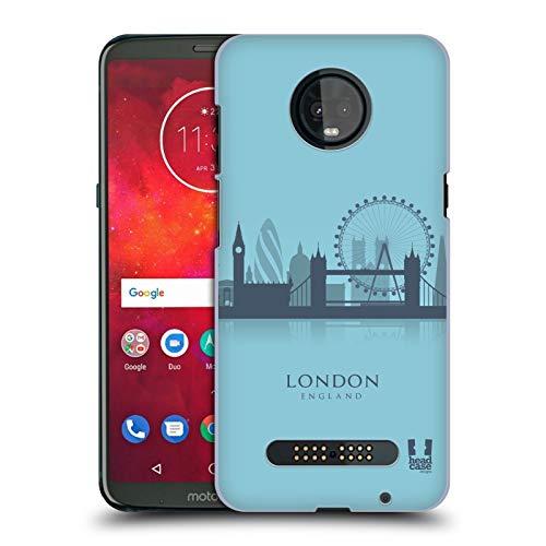 Head Case Designs London Landmarken Silhouettes - Uk Harte Rueckseiten Huelle kompatibel mit Motorola Moto Z3 / Z3 Play