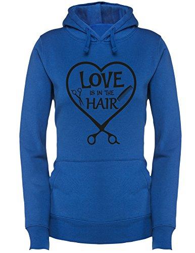 Love is in the Hair - Damen Hoodie Royal/Schwarz