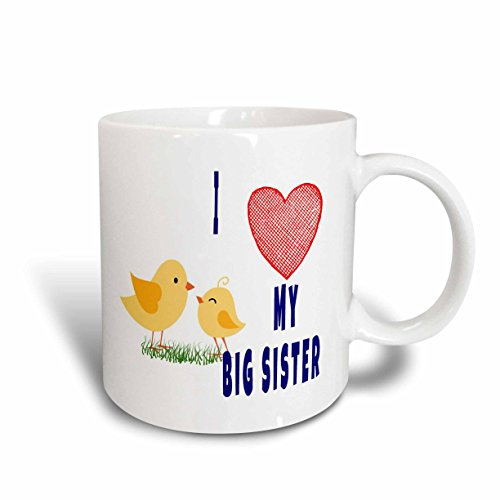 "3dRose 218142_5 Tasse mit Aufschrift ""I Love My Big Sister"", 313 ml, Rot"
