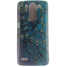 KATUMO® Buena Funda LG G3 S, Transparent Gel Case Cover Carcasa Bumper para LG G3 S(LG G3 Mini) Funda de Piel Protectora Carcasa Dura Cubierta Caja-Azul