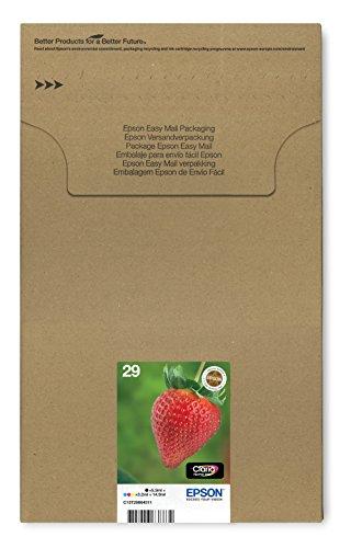 EPSON C13T29864511 Encre d'origine Multipack Fraise T2986 : cartouches Noir, Cyan, Magenta et Jaune [Emballage « Déballer sans s'énerver par Amazon »]