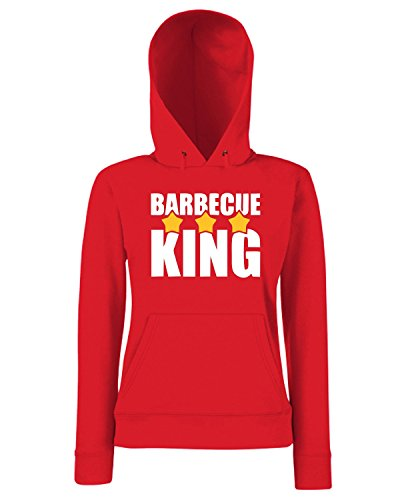 T-Shirtshock - Sweats a capuche Femme BEER0148 -Barbecue-Magliette Rouge