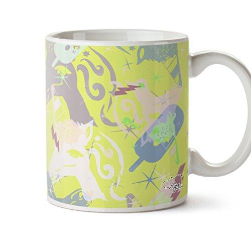 hippowarehouse Magische Eis Einhorn Muster bedruckt Tasse 284ml Keramiktasse, keramik, gelb, One Size (10oz) (Gelb-eis-wanne)