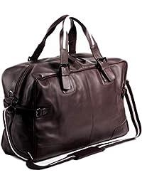 BACCINI® borsa da viaggio vera pelle ROBERTO grande borsa da weekend 28 l borsa da sport uomo cuoio
